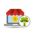 buying online broccoli icon vector image vector image