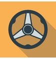 Car Steering Wheel Icon Flat Symbol vector image
