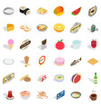 chef icons set isometric style vector image vector image