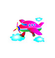 childrens application the pink plane running vector image