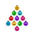 christmas and new year greeting flat cartoon card vector image vector image