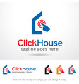click house logo template design vector image vector image