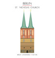 colorful st nicholas church vector image vector image