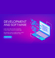 computer software development vector image vector image