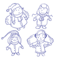 Cute happy children vector image vector image