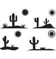 Desert landscapes vector image vector image