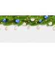 detailed seamless christmas garland realistic vector image