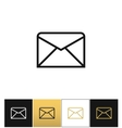 envelope business letter or email line vector image vector image