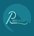 flat modern design with shadow icons ramadan vector image vector image