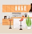 flat modern kitchen vector image vector image