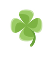 flat style of clover vector image