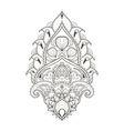 Floral leaf lotus Indian paisley ornament in vector image vector image