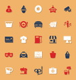 Franchisee business classic color icons with vector image vector image