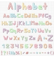 Funny hand drawn latin alphabet letters sketch vector image vector image
