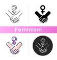 girl power icon vector image