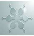 glossy snow flake2 vector image vector image