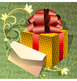 Greeting card with letter vector image vector image