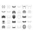 hero and mask symbol set vector image