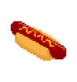 hot dog pixel art fastfood pixelated fast food vector image