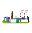 Industrial factory buildings icon Factory vector image vector image