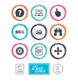 Internet seo icons Analysis chart sign vector image vector image