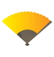 Isolated hand fan vector image