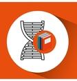 library books school science structure molecule vector image vector image