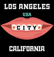 los angeles athletics typography stamp california vector image