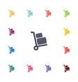 Luggage trolley flat icons set vector image vector image