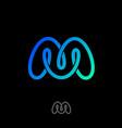 m monogram mobius logo vector image