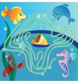 Maze game for kids vector image vector image