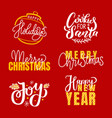 merry christmas fest greetings calligraphic print vector image