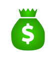 money bag icon dollar icon vector image vector image