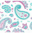 paisley pattern of indian floral ornament vector image