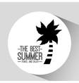 palm tree card best summer travel and enjoy vector image vector image