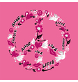 Peace and love symbol vector image vector image