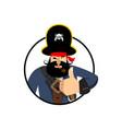 pirate thumbs up filibuster winks emoji buccaneer vector image vector image