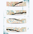 set of bright watercolor stains vector image vector image
