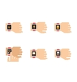 Smartwatch Icons of Smart vector image