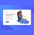 social media network website vector image vector image