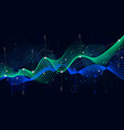 statistics big data analytical indicator sci-fi vector image