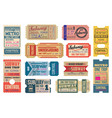 subway underground and metro tickets vector image