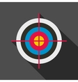 Target colored flat icon vector image vector image