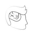 technology artificial brain vector image vector image