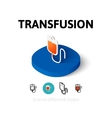 Transfusion icon in different style vector image