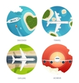 Travel and tourism Airplane vector image vector image