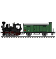 vintage small steam freight train vector image vector image