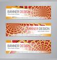 web header design red orange banner template vector image vector image