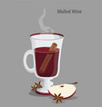 winter drink mulled wine vector image vector image