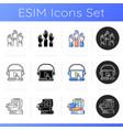 workshop icons set vector image